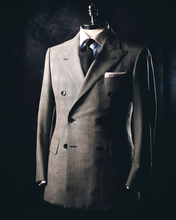 Glen plaid double breasted suit