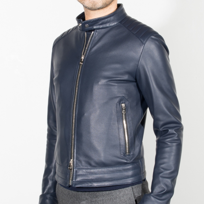 Navy riders jacket