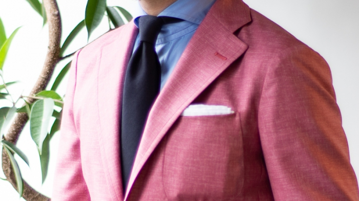 Jacket Pink wool silk