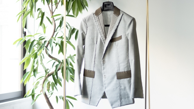 Women's jacket Light gray summer basket